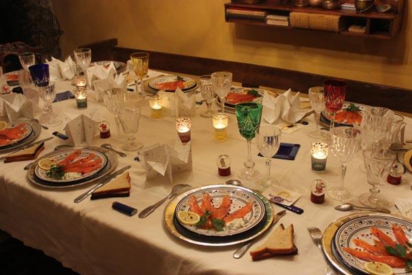 table de fête gastronomie