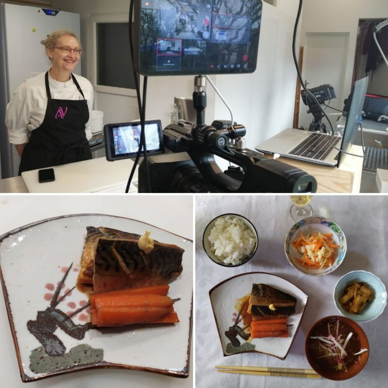 Cours de cuisine à distance en visio-conférence